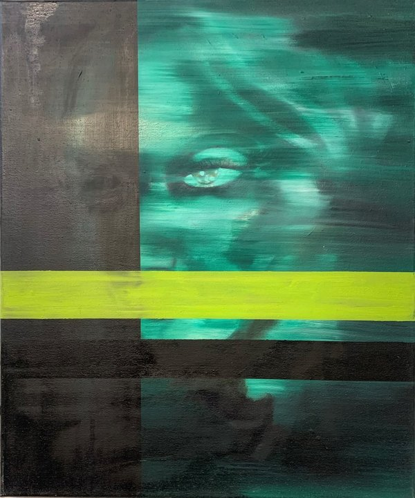 Deniz Alt, Lady in Green, 2014, Öl auf Leinwand, 50 x 60 cm